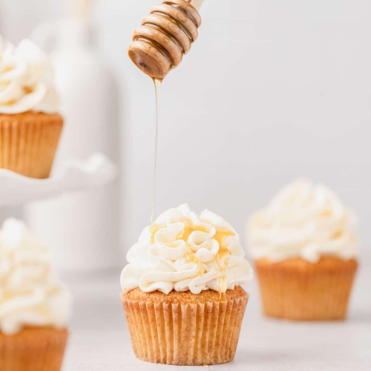 close up shot of cornbread cupcakes